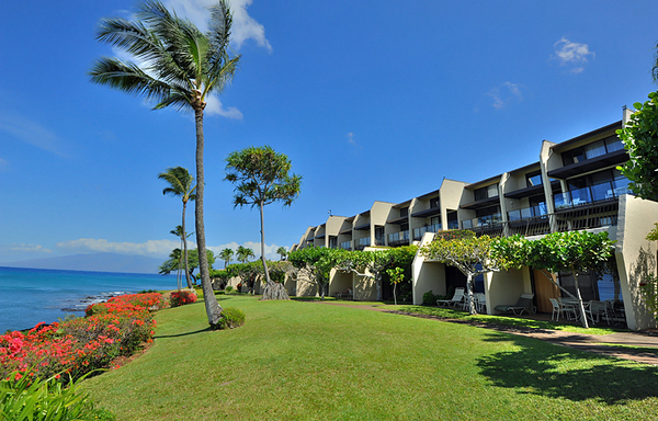 Napili Point beautiful oceanfront lawn
