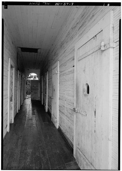 Hallway in the Hale Pa'ahao Prison in Lahaina