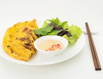 Korean Crepe with Chopsticks