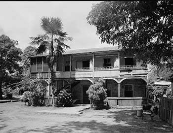 The historic US Marine Hospital on Lahaina