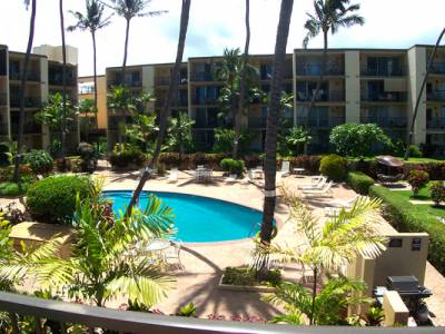 Hale Ono Loa pool and condo buildings