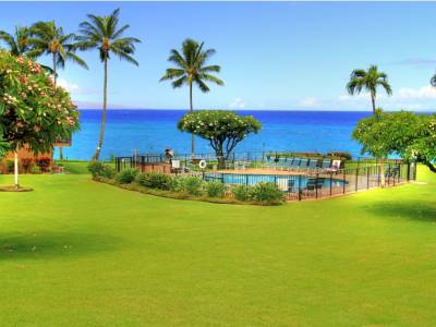 outdoor pool at the Polynesian Shores Resort, Maui Hawaii