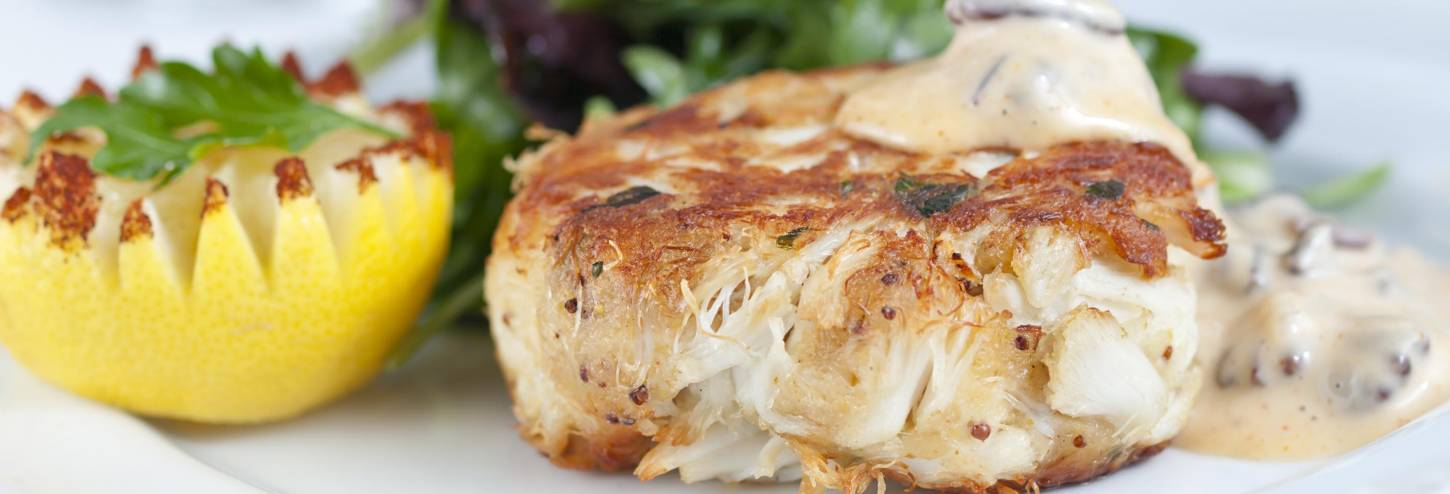 Crabcake with Arugula