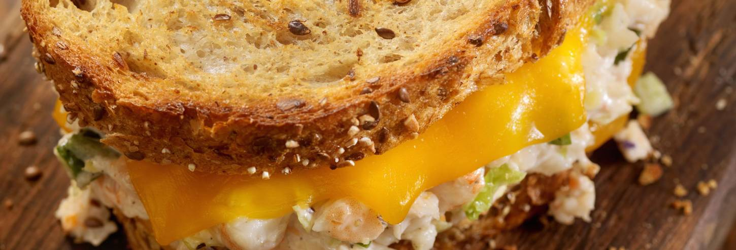 Crab Stuffed Grilled Cheese Sandwich
