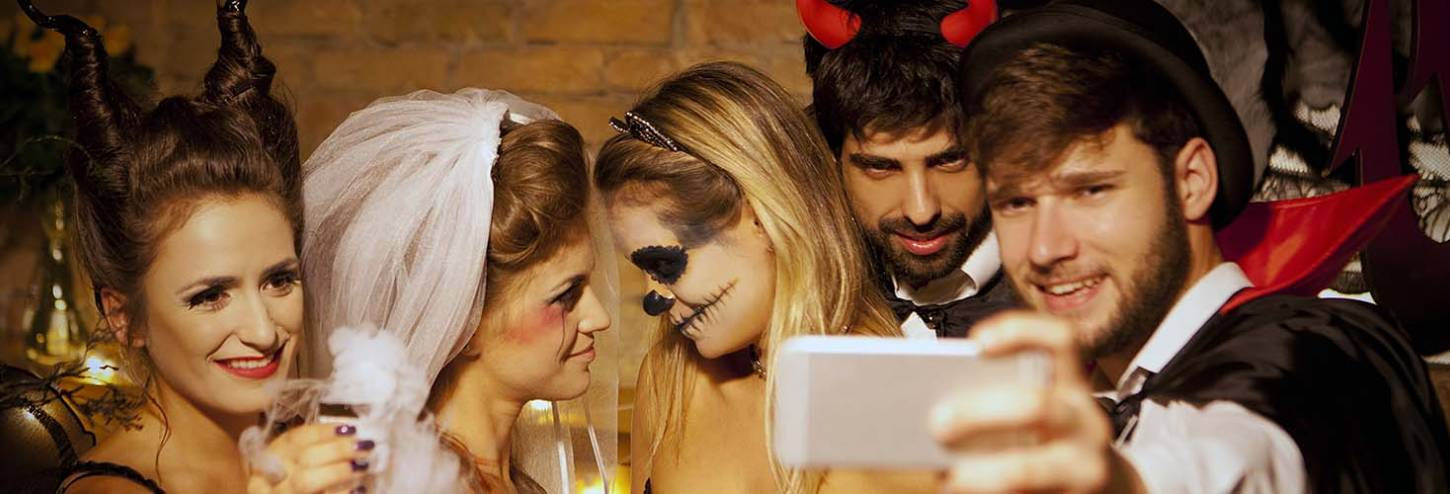Adults at a Halloween Party