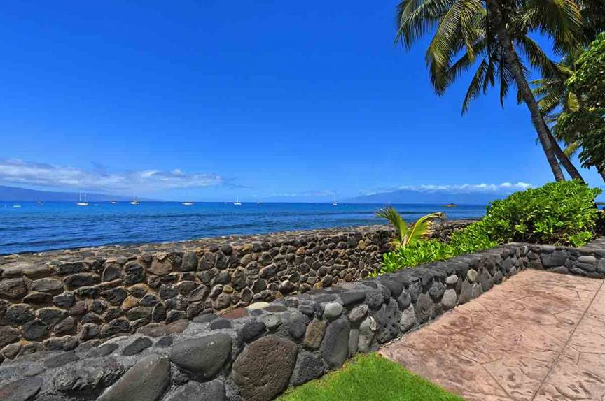 Sea wall at Lahaina Roads Resort