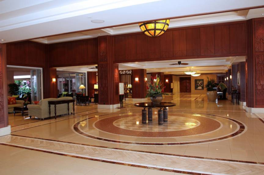 lobby at Maui resort