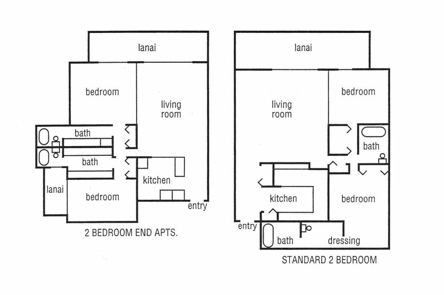 maui vacation rental floorplan