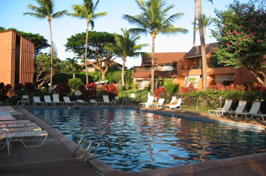 Outdoor pool at the Kuleana Resort