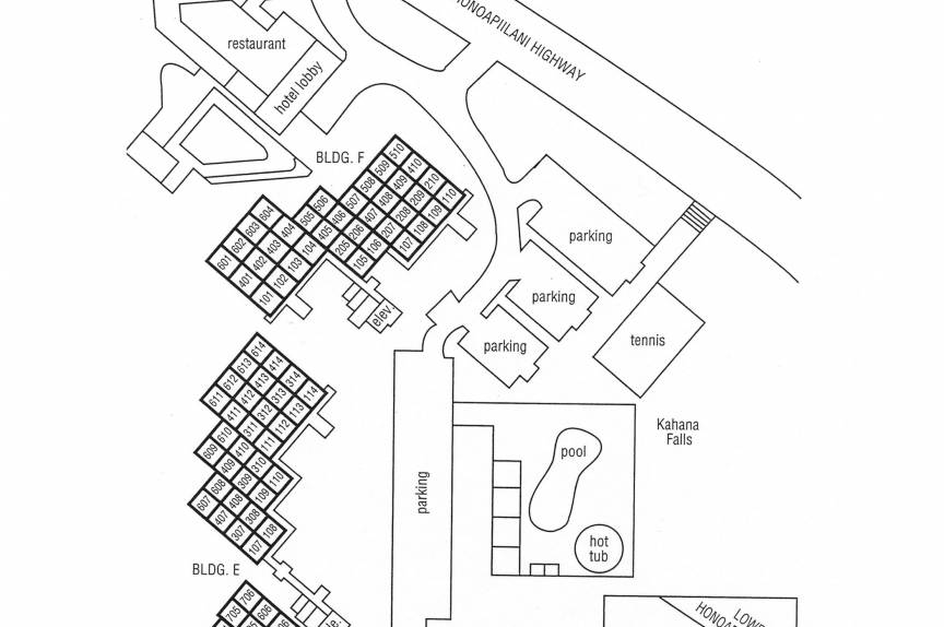 Kahana Villas property map
