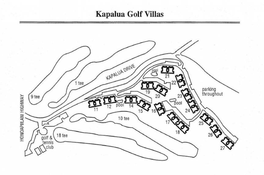 Kapalua Golf Villas property map
