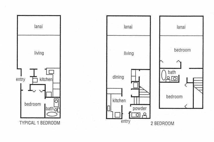 Lokelani Resort vacation rental floor plan