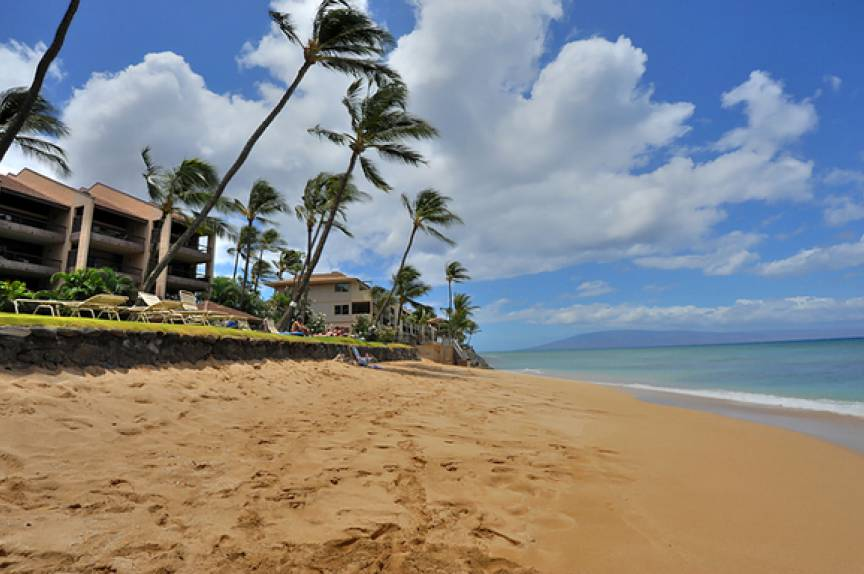 beach at the Lokelani Resort, Maui HI