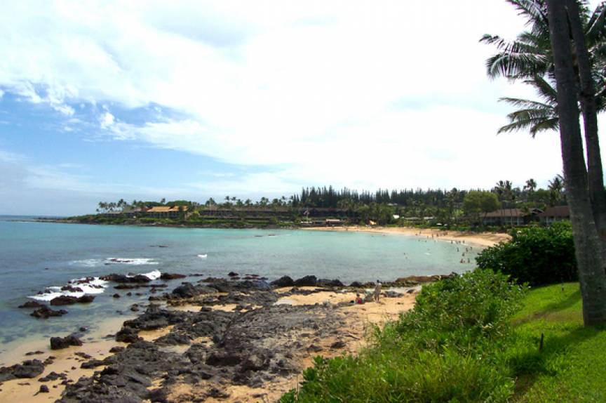 view from the Napili Gardens grounds