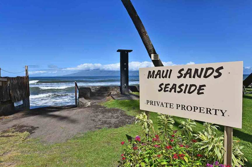 Maui Sand Seaside private oceanfront view