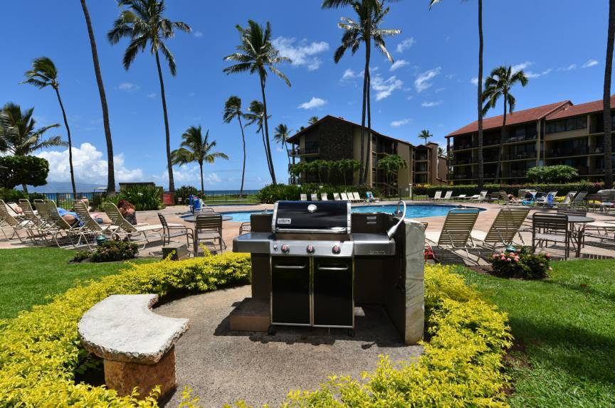Papakea Resort Gas BBQ's available for guest use