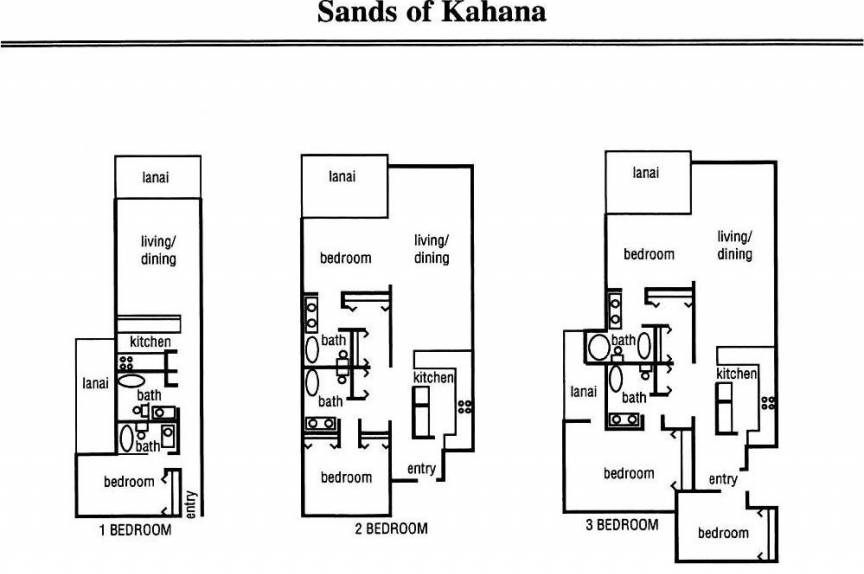 Sands of Kahana condo floor plan