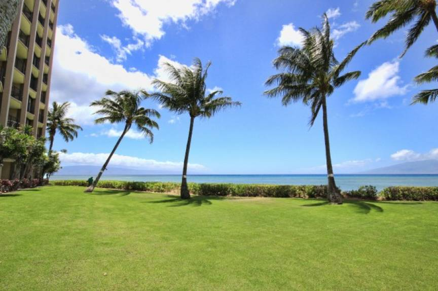 lush lawn at the Valley Isle Resort
