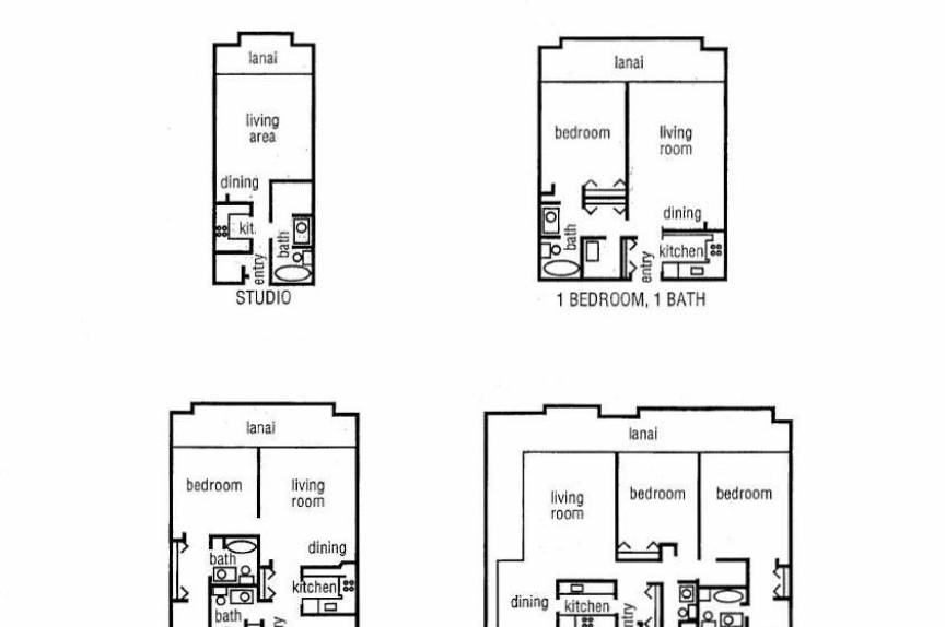 The Whaler on Kaanapali Beach condo floor plan